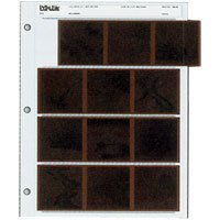 Print File Archival 120 Size Negative Pages Holds Four Strips of Three 6x6 Frames, Pack of 25