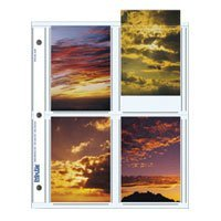Print File Archival Photo Pages Holds Eight 3 1/2 x 5 Prints, Pack of 25