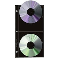 Pro-Line Archival CD / DVD Storage Pages, 4 CD's Per Page, Pack Of 12.