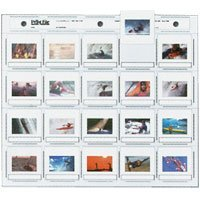 Print File Archival 35mm Slide Pages Holds Twenty 2 x 2 Mounted Transparencies, Side Loading, Pack of 25