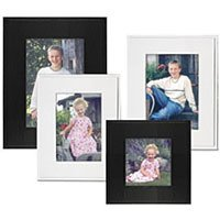 Collectors Gallery Sturdy Easel Frame for 4 x 6 Photographs, White (6 Pack)