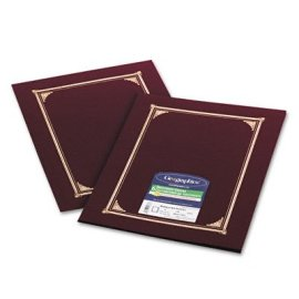 Geographics(R) Document Covers, 9 1/4in. x 12 1/2in., Burgundy, Pack Of 6