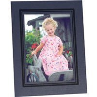 Collectors Gallery Classic Timeless Easel Frame 4 x 5 with Black Foil Window Border (10 Pack)