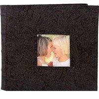 MBI Paisley Corduroy Tabletop Album, 4 x 6 2-Up 200-Pocket, Black