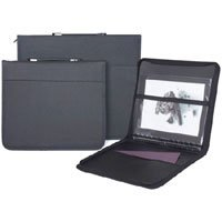 Prat Start 3 Presentation Case, Multi-ring Binder with Ten 14x 17 Archival Sheet Protectors, Cover Color: Black.