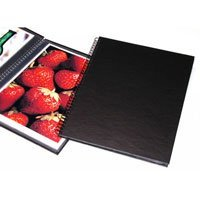 Print File Wire Bound Portfolio Edition Album, 8.5x 11 Format, Black, with Twelve Pages, Dimensions: 9 15/16 w x 11 15/16 h