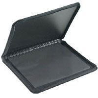 Prat Start 2 Presentation Portfolio Case with Ten 8.5x 11 Archival Sheet Protectors, Cover Color: Black.