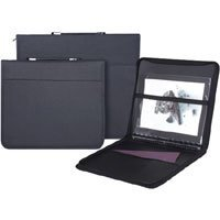 Prat Start 3 Presentation Case, Multi-ring Binder with Ten 8.5x 11 Archival Sheet Protectors, Cover Color: Black.