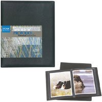 "Itoya Art Profolio Professional Presentation Book with 24 Sleeves for 9"" x 12"" Art Works."