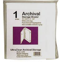 Adorama Archival Plastic Storage Binder Box with 3 'O'-Rings, Color: White