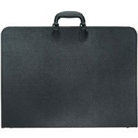 "Prat Start 2 Portfolio Case with Internal Holding Straps, 20"" x 26"" x 3"", Cover Color: Black."