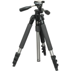 Slik Able 340DX A.M.T 4 Section Titanium Tripod with 3-way Quick Release Pan Tilt Head, Max. Height 58, Supports 8.8 Lbs.