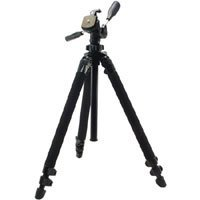 Slik Pro 400DX Tripod Legs - Black - with 3-Way Pan/Tilt Quick Release Head (Height 18.5 - 61, Maximum Load 9.9 lbs)