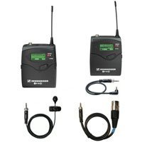 Sennheiser EW122PG2 Camera Mountable UHF Lavalier Wireless Microphone System - Bodypack Transmitter, Omni-directional Lavalier & Camera-mountable Receiver, ENG-style System.