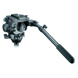 Manfrotto 519 Pro Video Fluid Head w/Adjustable Zero Drag Control and Interchangeable Counterbalance Springs - 22 lb capacity.
