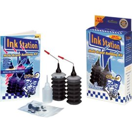 Dataproducts 60390 InkStation Multi-Brand Refilling Kit with Cap Remover (Black)