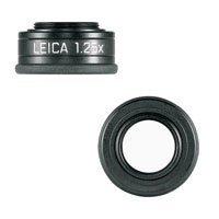 Leica Viewfinder Magnifier M 1.25x - Eyepiece magnifier - black - anodized aluminum