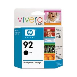 HP 92 Black Inkjet Print Cartridge (C9362WN#140)