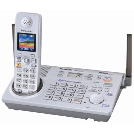 Panasonic KX-TG5776S  5.8 GHz FHSS GigaRange  Expandable Digital Cordless Answering System with 1.5 Full Color Backlit LCD on Handset - Silver