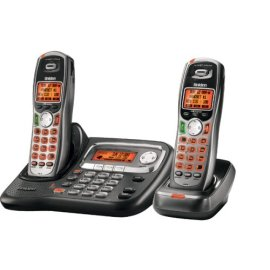 Uniden TRU9465-2 Expandable Cordless System with Dual Keypad and Call Waiting/Caller ID and Exta Handset and Charger - Black