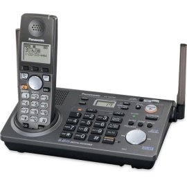 Panasonic KX-TG6700B 5.8 Ghz Cordless Phone Two-line Expandable Phone System