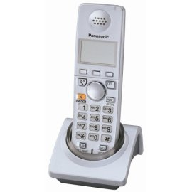 Panasonic KX-TGA570S 5.8 GHz FHSS GigaRange  Expandable Digital Cordless Handset - Silver