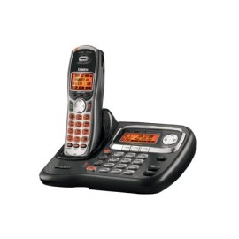 Uniden TRU9466 2-Line Expandable Cordless System with Dual Keypad and Call Waiting/Caller ID - Black and Silver