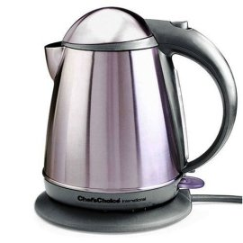 Chef's Choice M677SSG Cordless Electric Kettle-Stainless Steel Gray
