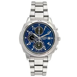 Seiko Men's Stainless Steel Chronograph Watch SND193