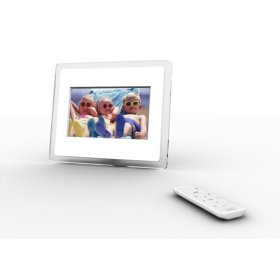 i-Mate Momento 70 7 Digital Photo Frame (Clear / White)