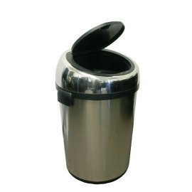 iTouchless 18 Gallon Commercial Size Stainless Steel Trashcan (DZTC18)