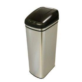 iTouchless Stainless Steel Hands-Free Infrared Automatic Trash Can (13 Gallon)
