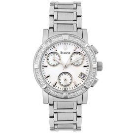 Bulova Women's Diamond Bezel Chronograph Watch #96R19