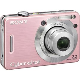 Sony Cybershot DSCW55 7.2MP Digital Camera with 3x Optical Zoom (Pink)