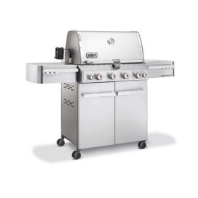 Weber 1740001 Summit S-450 Propane Grill, Stainless Steel