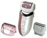 Panasonic ES2045P Wet/Dry Two-Speed Epilator with Three Heads (Pink) - Magenta