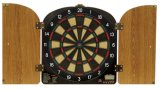 Arachnid DarTronic 400 Electronic Soft-tip Dart Game, Walnut Cabinet
