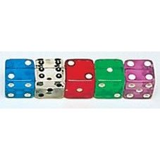 CLEAR dice Assorted colors 100 per pack