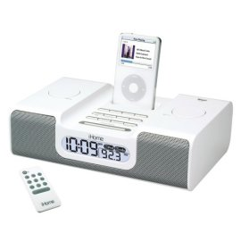 iHome iH6 Clock Radio for iPod (White)