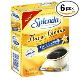 Splenda Flavor Blends for Coffee Packets, French Vanilla, 30-Count Boxes (Pack of 6)