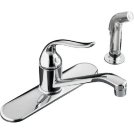 KOHLER K-15172-P-CP, Coralais(R) Single-Control Kitchen Sink Faucet, Polished Chrome