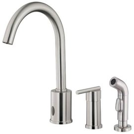Danze Parma Single-Handle Dual Kitchen Faucet with Side Sprayer, Stainless Steel #D421058SS