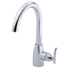 Danze Sonora Single-Handle Pull-Down Kitchen Faucet, Chrome #404554
