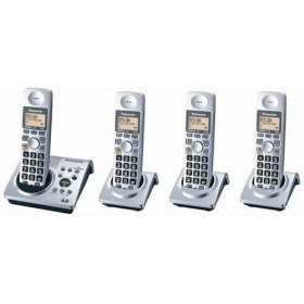 Panasonic KX-TG1034S Dect 6.0 Cordless Telephone w/Digital Answering machine and 3 Handsets