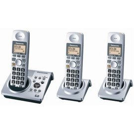 Panasonic KX-TG1033S Dect 6.0 Cordless Telephone w/Digital Answering machine, 3 Handsets Total