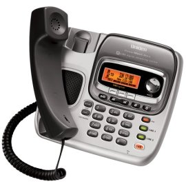 Uniden TRU9496 2-Line Expandable Corded/Cordless Combination System with Digital Answering System, Dual Keypad and Call Waiting/Caller ID - Black and Silver