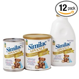 Similac Advance Infant Formula with Iron, Concentrated Liquid, Case of 12 Cans- each 13 Fluid Ounces (384 ml)