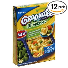 Gerber Lil' Entrees Graduates Complete Meals, Creamy Vegetables, Chicken & Noodles, 5.5-Ounce Boxes (Pack of 12)