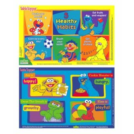 Neat Solutions 50-ct Sesame Street Table Topper disposable stick-on placemats with reusable pop-up travel case