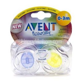 Translucent Newborn Pacifiers 0-3m - Blue / Yellow